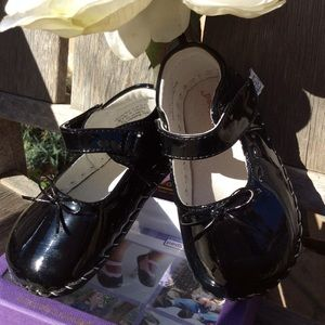 Pediped Patent Leather Infant Shoes w/box